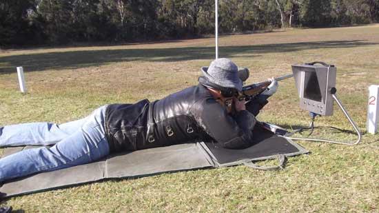 Target rifle shooter